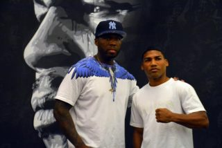 "Yuriorkis Gamboa - photos by Rey Sanchez --  Hosted by his promoter Curtis ""50 Cent"" Jackson, undefeated multiple world champion Yuriorkis ""The Cyclone of Guantanamo"" Gamboa (23-0, 16 KOs) held an open media workout today at Iron Mike Promotions Gym to promote Gamboa's June 28 world title fight against World Boxing Organization (WBO) lightweight championTerence Crawford (23-0, 16 KOs)."