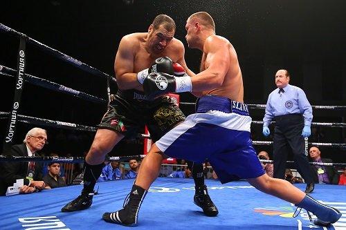 "Czar Glazkov - Bethlehem, PA:  The main event featured a brutal ten-round heavyweight battle between Vyacheslav ""Czar"" Glazkov (18-0-1, 11 KOs*) from Lugansk, Ukraine against Derric ""El León"" Rossy (29-9, 14 KOs) of Medford, NY."
