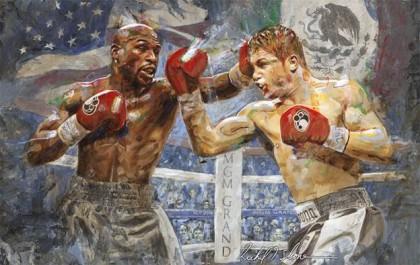 "Floyd Mayweather Jr Mayweather Jr. vs. Canelo Saul ""Canelo"" Alvarez Boxing News"