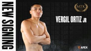 Vergil Ortiz Jr. - MTK Global is delighted to announce the signing of undefeated welterweight star Vergil Ortiz Jr - thanks to a strategic partnership with highly-respected US boxing figure Rick Mirigian.