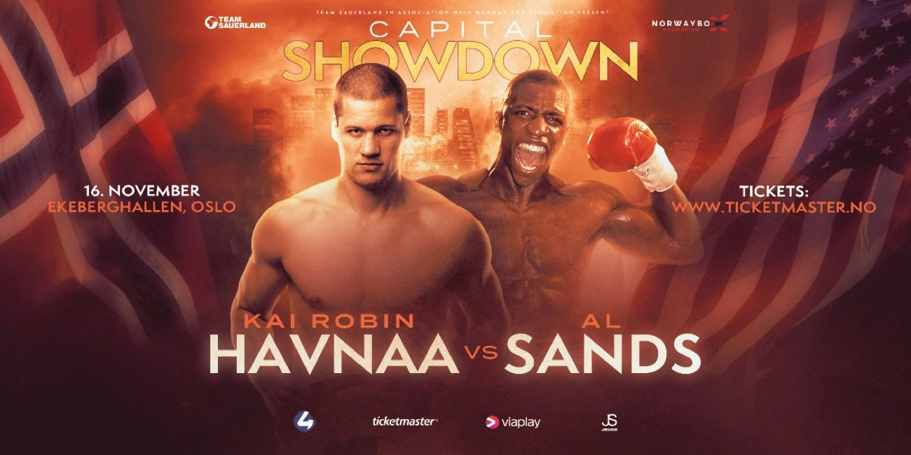 Kai Robin Havnaa - IBO International Cruiserweight Champion Kai Robin Havnaa (15-0, 13 KOs) will face the hard-hitting American dangerman  (20-4-1, 14 KOs) on November 16th in Oslo as he looks to move into World title contention.