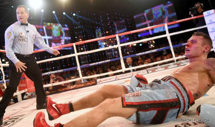 Martin Murray reacts to stoppage defeat at the hands of Gennady Golovkin