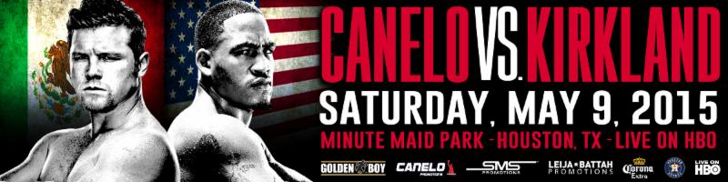 "Saul Alvarez - The wait is over. Two of boxing's toughest warriors, Mexican superstar Canelo Alvarez and the Texas titan James ""Mandingo Warrior"" Kirkland will clash in a 12-round super welterweight showdown at Minute Maid Park in Houston, Texas on Saturday, May 9, 2015. Golden Boy Promotions, in association with Canelo Promotions, SMS Promotions and Leija*Battah Promotions will bring fans an explosive night of boxing when these two exciting warriors finally meet in this much anticipated match-up which will be televised live on HBO World Championship Boxing beginning at 9:00 p.m. ET/PT."