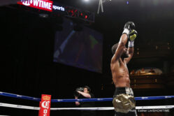 Gary Russell Jr., Jermell Charlo, Jhonny Gonzalez, Vanes Martirosyan -  After coming close to world championship glory in 2014, Gary Russell Jr. (26-1, 15 KOs), a former United States amateur standout, delivered on his promise in impressive fashion Saturday night, knocking out defending champion Jhonny Gonzalez (57-9, 48 KOs), of Mexico City, in the fourth round in the main event of a SHOWTIME CHAMPIONSHIP BOXING doubleheader promoted by DiBella Entertainment at The Pearl Theater at Palms Casino Resort.