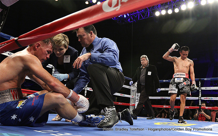 "Francisco Vargas, Will Tomlinson -  The NABF and WBO International Junior Lightweight Championship between Francisco ""El Bandido"" Vargas (22-0-1, 16 KOs) and ""Wild"" Will Tomlinson (23-2-1, 13 KOs) featured a night full of unbeaten stars and action-packed knockouts, live on HBO Latino Boxing from the Freeman Coliseum in San Antonio, Texas."