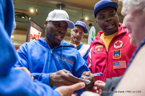 Adonis Stevenson, Artur Beterbiev, Gabriel Campillo, Sakio Bika - PBC on CBS, headlined by the light heavyweight world championship fight between Stevenson and Bika, is promoted by Groupe Yvon Michel (GYM) and presented by Videotron and in association with Mise-O-Jeu.  Tickets are on sale now at the Pepsi Coliseum box office in Quebec, by calling (418) 691-7211 or (800) 900-7469, online at www.billetech.com, at GYM (514) 383-0666 and Champion Boxing Club (514) 376-0980. Ticket prices range from $25 to $250 on the floor.