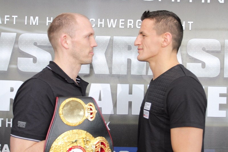 Jürgen Brähmer - Photo Credit: Sebastian Heger - Mission Impossible' or 'Rock 'n' Roll', these are the two opposing views shared at today's final press conference ahead of Saturday night's WBA World Light Heavyweight Championship fight between Juergen Braehmer (45-2, 33 KOs) and Robin Krasniqi (43-3, 16 KOs) at the StadtHalle in Rostock, Germany.