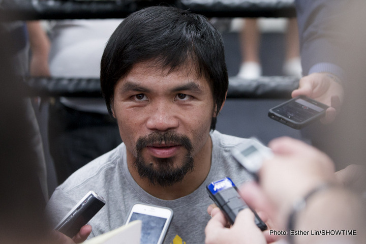"Manny Pacquiao-Amir Khan is on! Both fighters say ""super-fight"" will go ahead April 23"