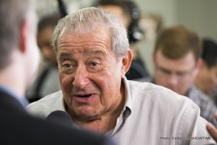 "Arum says talk of a Pacquiao vs Khan fight being done is ""bulls***"""