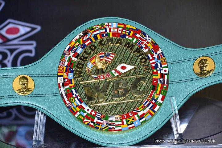 Larry Holmes Unveils $1 Million Dollar WBC Belt – Mayweather v Pacquiao