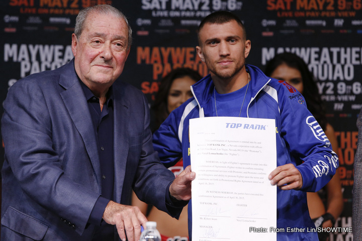 "No Salido-Lomachenko rematch any time soon; Arum says Salido ""Chickened Out!"""