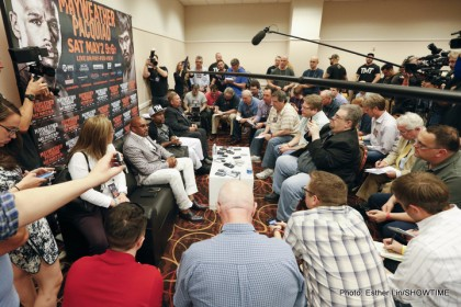 Floyd Mayweather Jr writers scrum