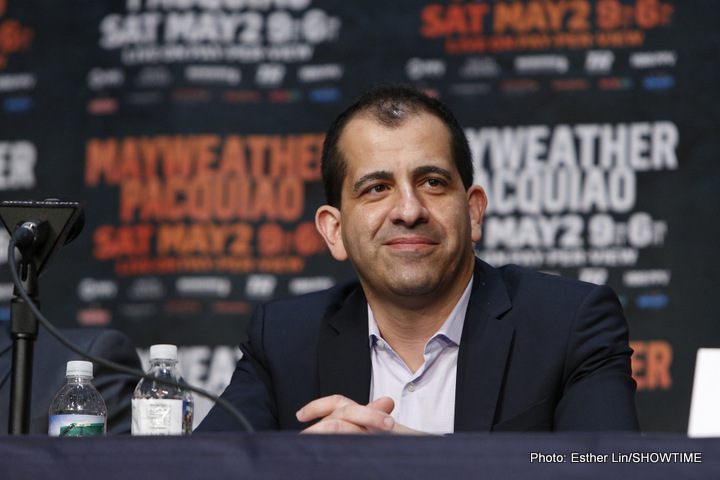Espinoza: We'll be calling [Floyd] after the Garcia-Thurman fight, maybe he'll be interested in facing the winner
