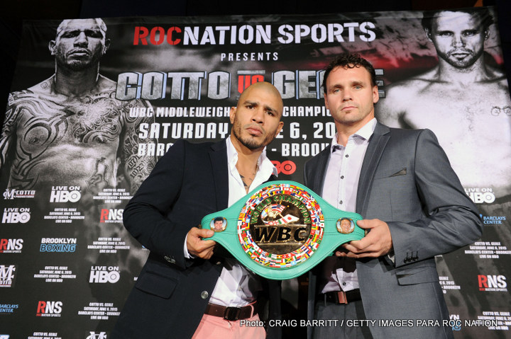 Cotto vs Geale on June 6 in Brooklyn – Press Conference Video