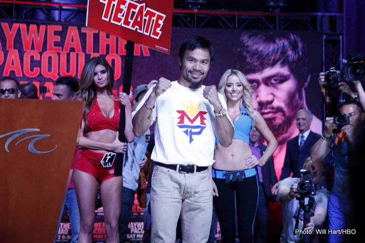 Manny Pacquiao says he has maybe four fights left, can box until 2018
