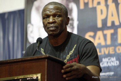 Floyd Mayweather vs Manny Pacquiao Trainer's Press ConferenceFloyd Mayweather Sr.Media Tent MGM Grand  April 30, 2015Photo Credit: Will Hart