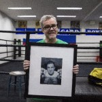 Floyd Mayweather Jr, Freddie Roach, Manny Pacquiao, Mayweather vs. Pacquiao - Photo by  Ben Lowy - After hearing how late Mayweather was for his own media workout, the seven-time Trainer of the Year offered his own audit of Manny's next opponent.