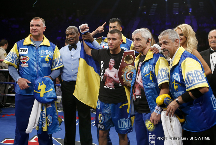Bob Arum says Vasyl Lomachenko-Terry Flanagan is a possibility for next year, in England