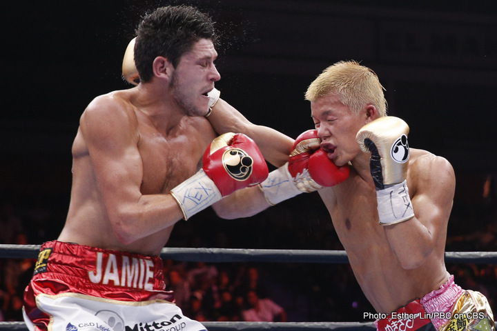 Tomoki Kameda - This Sunday afternoon the PBC on CBS will bring boxing fans a rematch between Jamie Mcdonnell and Tomoki Kameda. Their first meeting back in May on CBS was a two-way affair and the second time around has only increased the stakes at hand. Can Mcdonnell have the same continued success he found after coming off the mat? Will Kameda use a smarter game plan rather than head hunting as he found himself doing after scoring the early knockdown?