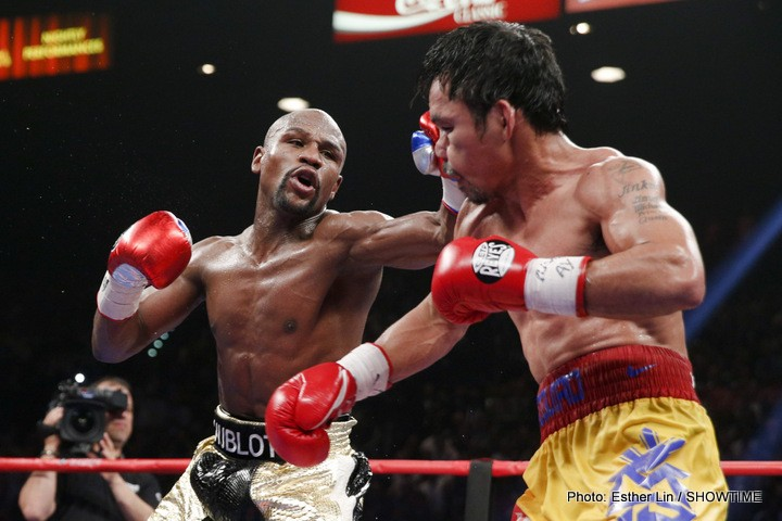 Floyd Mayweather Jr Manny Pacquiao Mayweather vs. Pacquiao Boxing News Boxing Results Top Stories Boxing