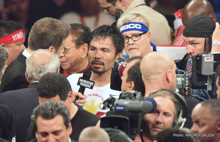 Pacquiao and Top Rank make statement about Manny's shoulder injury
