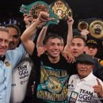 Gennady Golovkin - In the wake of his sublime 6th round destruction of Willie Monroe Jr, Gennady Golovkin's trainer Abel Sanchez has spoken out to address the issue of future fights for the Kazakh wrecking machine - saying that it's the other big names out there in and around 160lb (like Cotto and Canelo) who need to step up to fight his man - insisting that Golovkin himself is not afraid to lose his '0' against marquee names in the big fights.
