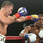 """Golovkin vs. Monroe Jr. - Punching power is one thing.  Destructive power is another.  The heavy handed type is devastating, brutal, and ruinous.  That is an apt description of WBC flyweight champion Roman """"Chocolatitio"""" Gonzalez 43-0-0 (37KO)  and WBA and WBC interim middleweight champion Gennady """"Triple G"""" Golovkin 32-0-0 (32KO).  They continued to demonstrate as much in front of a full house at the Forum in Inglewood, CA.  A full house saw Chocolatito destroy Edgar Sosa 51-8-0 (30KO) inside of two rounds.   Triple G's feature bout looked as though it was going to be a repeat performance, as he had Willie """"The Mongoose"""" Monroe 19-2-0 (6KO) down twice in the second.   But, to Monroe's credit, he recuperated and actually won a round or two before being stopped by Triple G at :45 of the sixth round."""