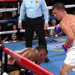 David Lemieux - There has been some interesting talk from the much-avoided 160 lb fan favorite Gennady Golovkin this weekend regarding potential future fights, with the Kazakh knockout artist speaking out to British media and on twitter to talk Carl Froch and new IBF middleweight champion David Lemieux - who captured his strap in exciting but no means technically excellent manner on Saturday night against Frenchman Hassan N'Dam.