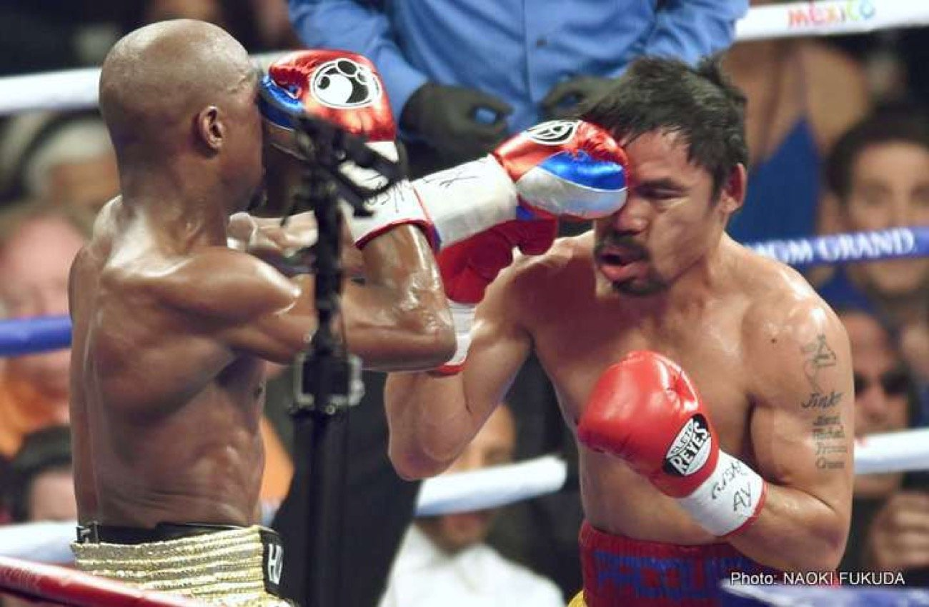 Mayweather vs. Pacquiao - After waiting more than five long years, the richest fight in boxing history became a reality this past weekend when Floyd Mayweather Jr improved to 48-0 with a unanimous decision victory against long time rival (at least outside the ring) Manny Pacquiao, whose record dropped to 57-6-2.
