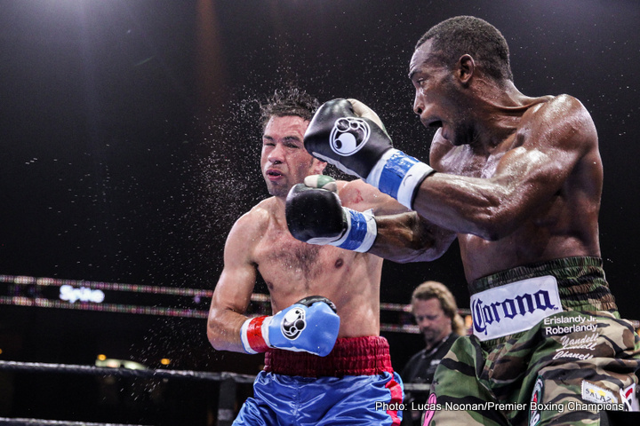 Photos: Lara easily beats Rodriguez; Beterbiev defeats Johnson