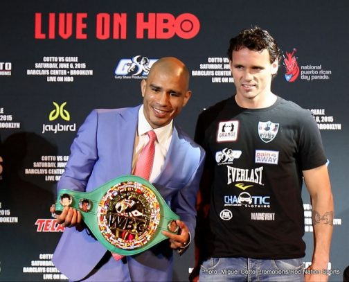 Cotto vs. Geale Daniel Geale Miguel Cotto Boxing News