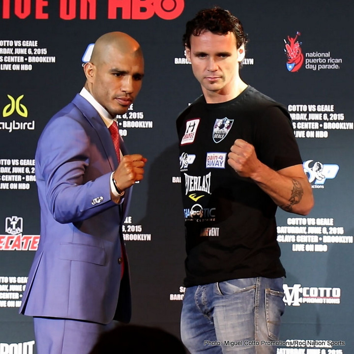 Cotto and Geale press conference quotes