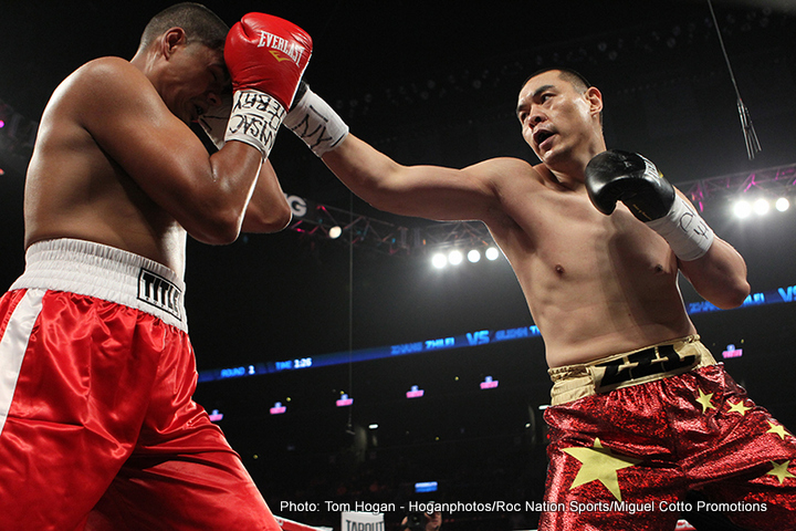 Alexander Ustinov, Frank Buglioni - Roc Nation Sports today announced that heavyweight fighter Zhang Zhilei (26-0, 16 KOs) and light heavyweight boxer Meng Fanlong (13-0, 8 KOs) will make their highly-anticipated broadcast debuts on DAZN on Saturday, November 24 at Le Casino de Monte Carlo in Monaco. The event will be promoted by Matchroom Boxing.