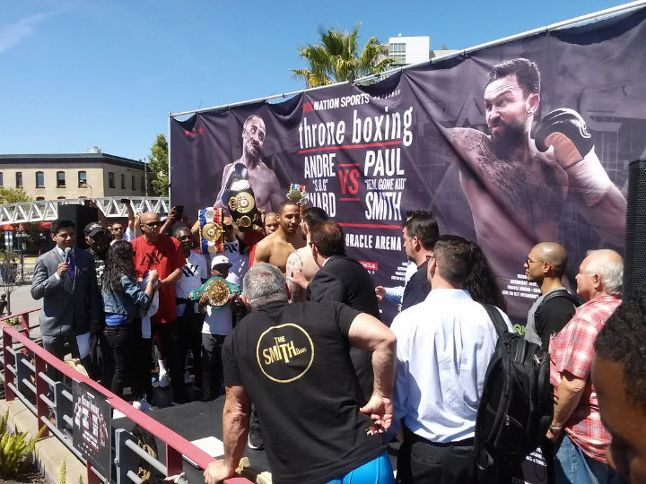 Andre Ward – Paul Smith weigh-in