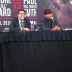 Paul Smith - By W. White: Last Saturday night, as I observed Super Middleweight champion Andre Ward (28-0, 14KO's) disassemble Britton Paul Smith (35-6, 20 KO's) from press row, I had questions.  What was the purpose them fighting at a 172lb catch weight? Did Paul Smith purposely coming overweight to give him some sort of advantage? Is this a fight the general boxing public really wanted to see? How would Andre Ward perform given his 19 month absence from the ring? Who could possibly be next after this fight?  As the fight progressed and I observed Ward tactfully picking his spots with his jab and sneaking in straight rights through Smith's guard, I realized it was only a matter of time.