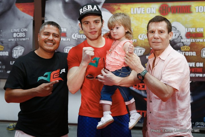 "Chavez Jr. putting the work in for Canelo showdown; Senior says when his son is properly prepared ""he can beat anyone"""