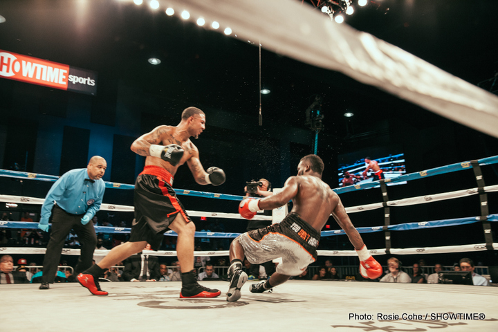 Jerry Odom, Samuel Clarkson - Nutley, NJ (July 20, 2015) - This past Friday night at the Sands Casino Resort Bethlehem, Jerry Odom (13-2, 12 KO's) was stopped in three rounds by Samuel Clarkson (15-3, 9 KO's) in what was supposed to be a fight contested in the Super Middleweight division.