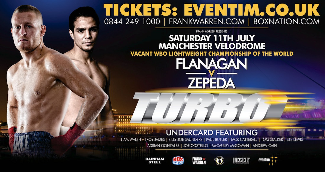 Jose Zepeda, Terry Flanagan - Big punching American knock-out artist Jose Zepeda comes to Manchester on Saturday night in an attempt to win the vacant WBO lightweight strap when he fights hometown hero Terry Flanagan - who will be seeking to emulate fellow Mancunian Ricky Hatton's historic world title win against Kostya Tzsyu in the City, almost exactly 10 years to the day.