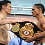 Darleys Perez -  Both WBA Lightweight Champion Darleys Perez (32-1, 20 KOs) and challenger Anthony Crolla (29-4-2, 11 KOs) weighed in at 134.4 lbs. at Friday's weigh in in England.