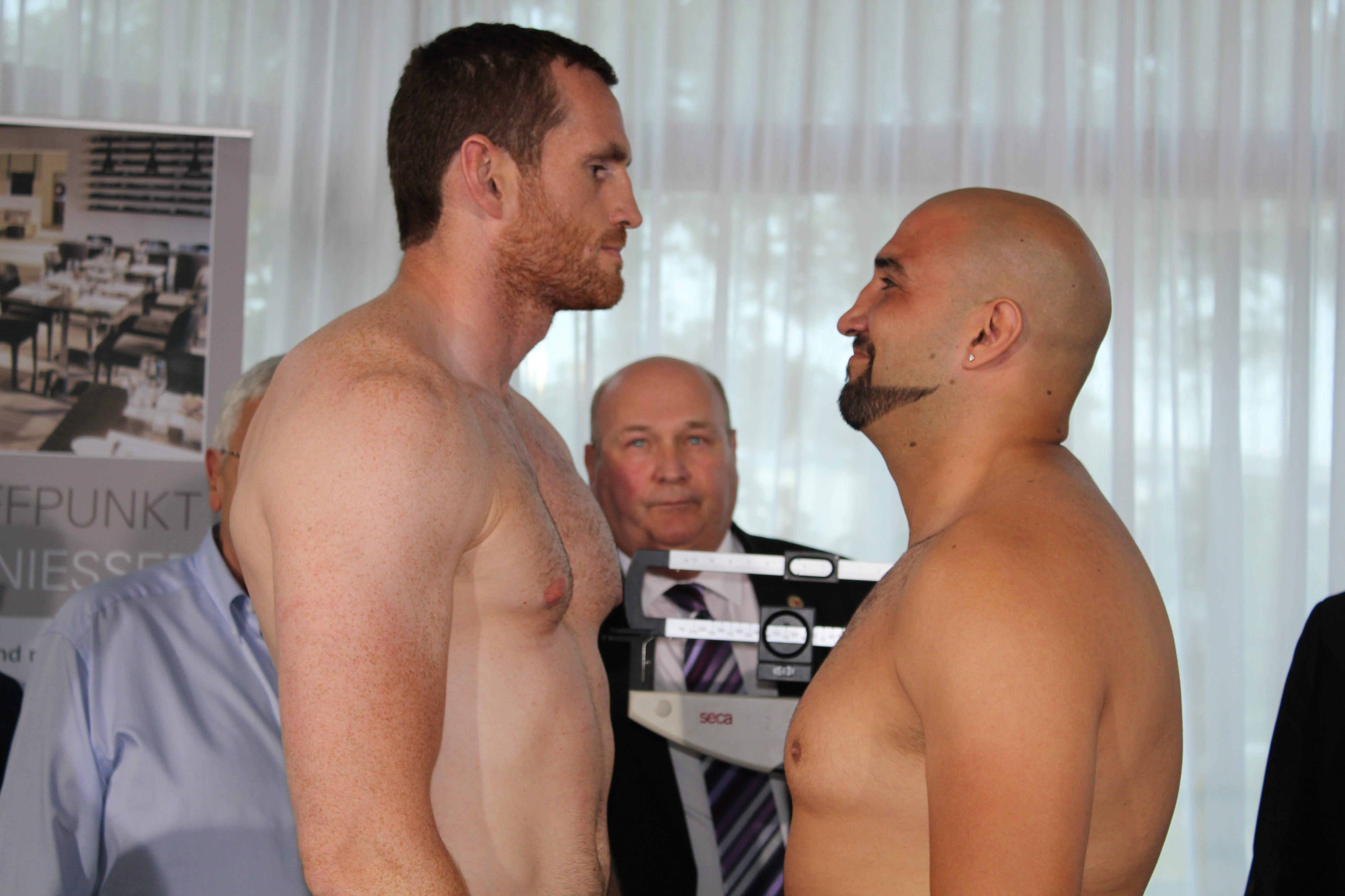 Price and Teper weigh-in ahead of European title showdown