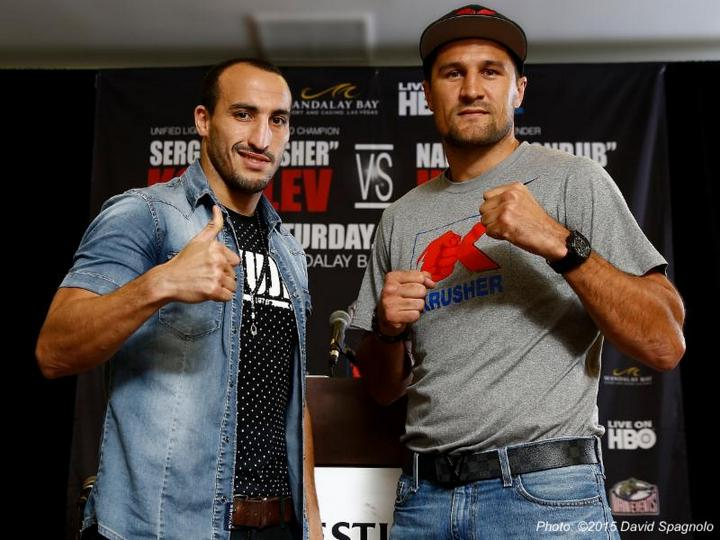 "Nadjib Mohammedi, Sergey Kovalev - Sergey ""Krusher"" Kovalev, WBO, WBA and IBF Light Heavyweight World Champion"