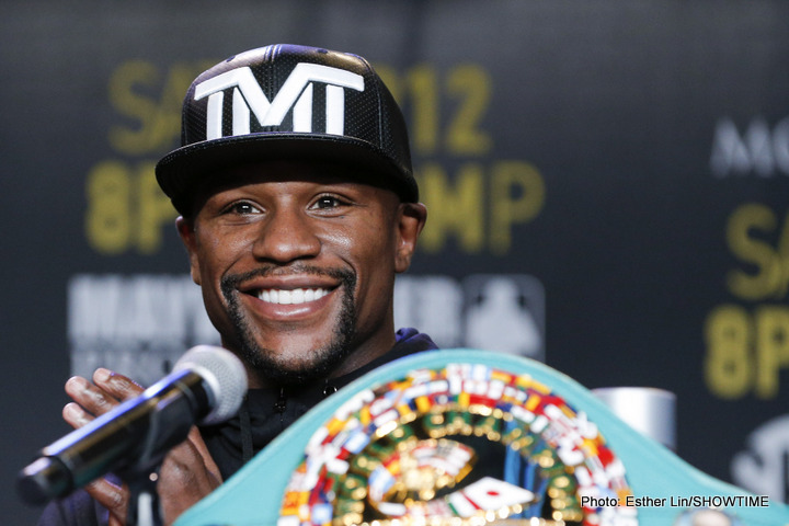 "Floyd Mayweather says he's earned the right to call himself ""T.B.E,"" says that as of now he is ""completely out"" of boxing – no truth to Pacquiao rematch rumours"