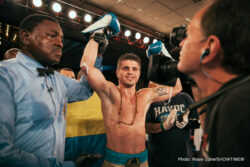 """Elvin Ayala, Ievgen Khytrov, Nick Brinson, Sergiy Derevyanchenko - Talented undefeated middleweight prospect and 2008 Olympian Sergiy Derevyanchenko continued to move on the fast track as he earned a unanimous decision over former world title challenger Elvin """"El Lycan"""" Ayala of New Haven, Conn. in Friday's main event of the ShoBox: The New Generation tripleheader from Bally's Atlantic City."""