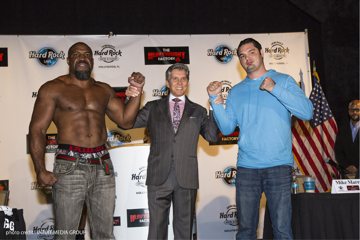 Mike Marrone Shannon Briggs Press Room