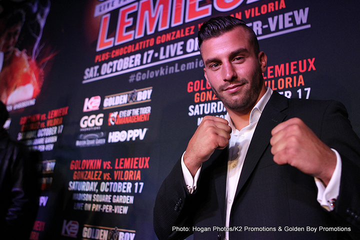 Golovkin vs. Lemieux - IBF middleweight champion David Lemieux claims he is unconcerned about being the betting underdog when he goes into October 17th's huge unification showdown with WBA (super) champion, Gennady Golovkin at Madison Square Garden, saying he is ready to 'shock the world.'