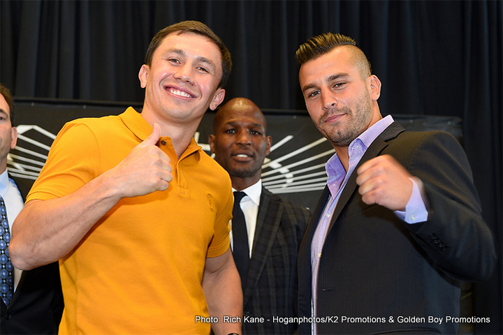 Golovkin vs. Lemieux - Golden Boy's future Hall of Famer, Bernard Hopkins, is predicting that their fighter - IBF 160lb champion David Lemieux – has the necessary tools to make Kazakh knockout artist Gennady Golovkin truly uncomfortable when the two big punchers clash in their huge HBO PPV unification fight on October 17th at Madison Square Garden.