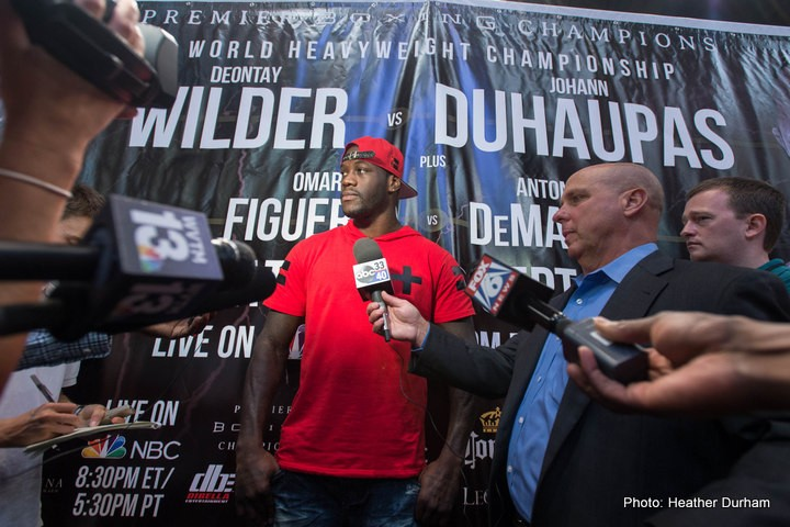 Deontay Wilder Johan Duhaupas Boxing Interviews Boxing News