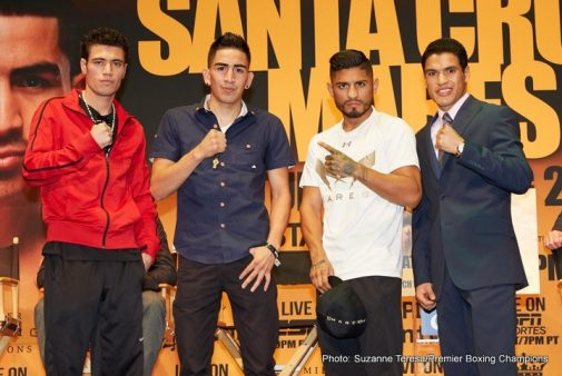 Abner Mares Leo Santa Cruz Press Room