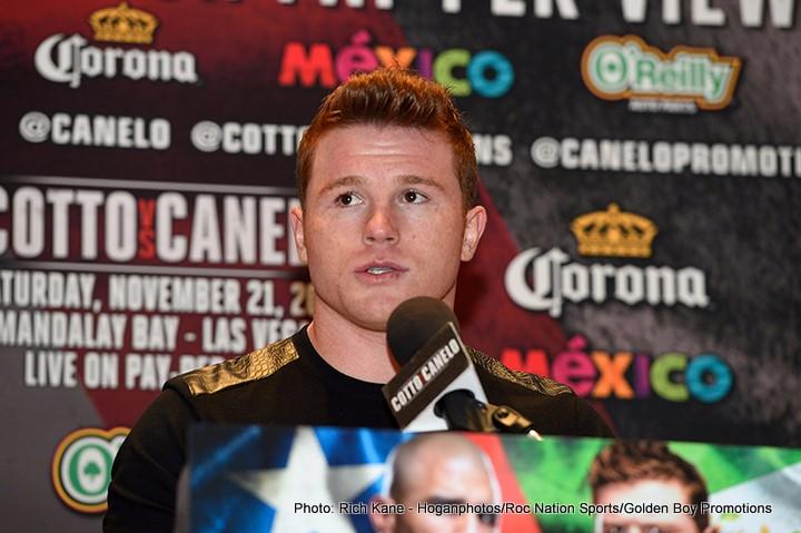 "Cotto vs. Alvarez Miguel Cotto Saul ""Canelo"" Alvarez Boxing News"