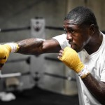 """Mayweather vs. Berto - Photo: STEPHANIE TRAPP - What a difference two years can make. On this date in 2013, two-time world champion Andre Berto (30-3, 23 KOs) underwent surgery to repair a torn tendon in his right shoulder. Two years later, he's feeling stronger than ever and enjoys a new appreciation for the speed, power and athleticism he's been blessed with. Berto plans to showcase all of those attributes in his Saturday, September 12 showdown with pound-for-pound king Floyd """"Money"""" Mayweather (48-0, 26 KOs) at the MGM Grand Garden Arena in Las Vegas live on SHOWTIME PPV (8 p.m. ET/5 p.m. PT)."""